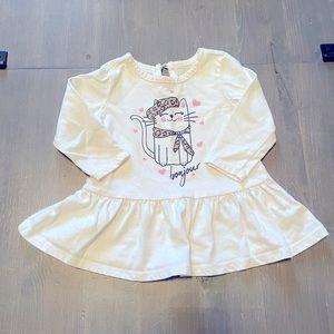 4/$15🌸 Baby Girl Peplum Top 6-12M